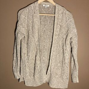 Madewell cable knit cotton alpaca blend cardigan